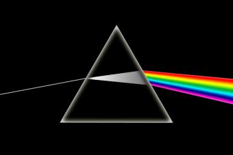 """עטיפת האלבום """"הצד האפל של הירח"""" של להקת פינק פלויד"""