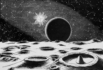 כיצד דמיינו אנשים את פני השטח של הירח בסוף המאה ה- 19 | צייר לא ידוע