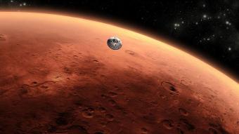 אילוסטרציה של מעבדה רובוטית מתקרבת למאדים | NASA/JPL-Caltech