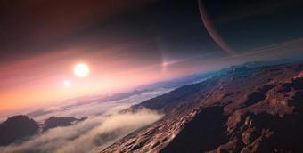 איור פני השטח של כוכב לכת במערכת שמש רחוקה וזרה | IAU/L. Calçada