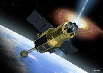 הלוויין Astro-H | איור: Akihiro Ikeshita / JAXA
