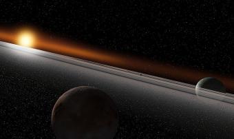 מערכת שמש זרה | אילוסטרציה: Ron Miller/NASAblueshift