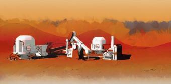 """תחנת """"הארצה"""" במאדים"""