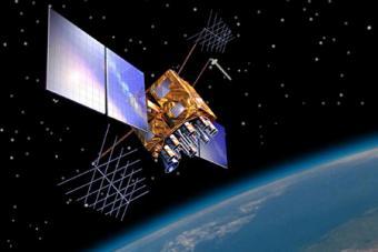 הדמייה של דגם לווין הניווט BLOCK (IIR)M שנכנס לשימוש בתחילת שנות ה-2,000  | NOAA