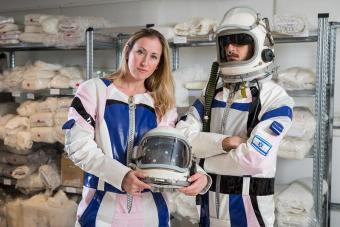 חליפת החלל הייחודית ידמו מענה לצרכים של אסטרונאוטים על מאדים | צילום: גלעד קוולרצ'יק