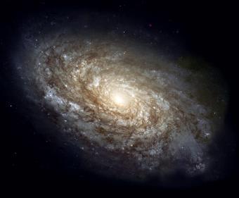 הגלקסיה הספירלית NGC 4414, המרוחקת כ- 62 שנות אור מכדור הארץ | צילום: NASA