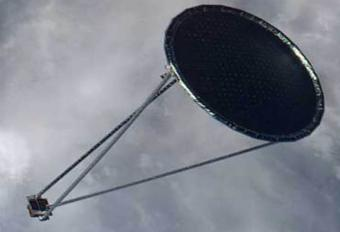 Imaging of the antenna expanded in space | photo: NSL