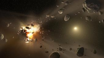 פיצוץ אסטרואיד בחלל | אילוסטרציה: NASA/JPL-Caltech