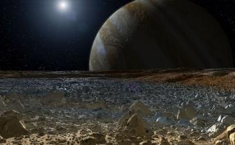 הנוף המשוער מפני השטח של אחד מהירחים הקרחיים של צדק, אירופה | איור: NASA/JPL-Caltech