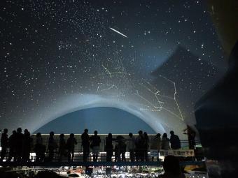 מפת השמיים בפלנטריום   קרדיט: 加藤好啓