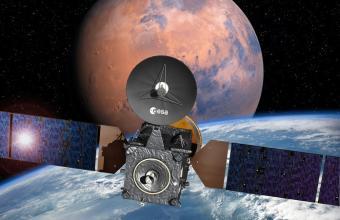 הדמיה של הגשושית והנחתת | אילוסטרציה: ESA–David Ducros