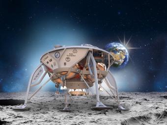 הדמיית החללית SpaceIL