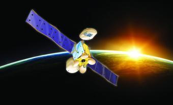 הדמייה של הלוויין עמוס 8 | באדיבות התעשייה האווירית לישראל