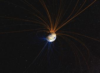 השדה המגנטי של כדור הארץ | אילוסטרציה: NASA Goddard Space Flight Center