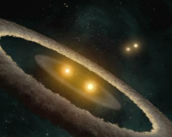 כוכב כפול | אילוסטרציה:  NASA/JPL-Caltech/T. Pyle-SSC
