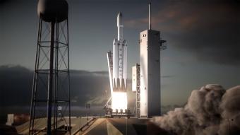 שיגור ה- Falcon Heavy | הדמיה: SpaceX