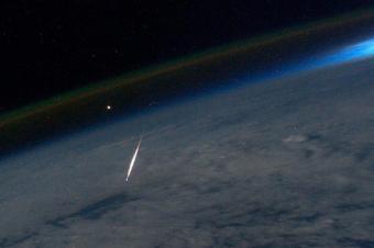 מטר הפרסאידים כפי שהוא נצפה מהחלל