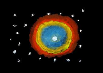 ילדים מציירים ובונים חלל