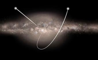 כוכב שמהירותו כה גבוהה שהיא מגיעה למהירות המילוט מהגלקסיה כולה | אילוסטרציה: ESA