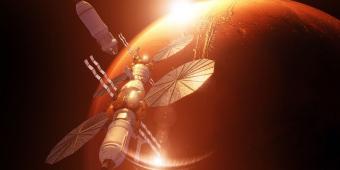 חזון תחנת החלל סביב מאדים | איור: Lockheed Martin