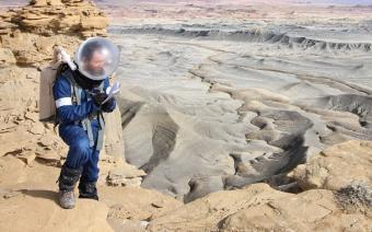 רואי נאור באזור במדבר יוטה המהווה סימולציה למאדים | צילום:  Dr. Niamh Shaw