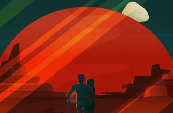 פוסטר תיירות במאדים | איור: SpaceX