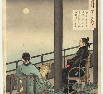 מאה מבטים בירח מס' 64 | יוֹושִיטוֹשִי צוקיאוֹקָה, 1839 - 1892
