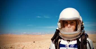 פיילוט במצפה רמון לקראת הדמיית מאדים הבינלאומית   קרדיט: ניב שואו