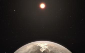 אילוסטרציה של השכן החדש Ross 128b | איור: ESO/M. Kornmesser