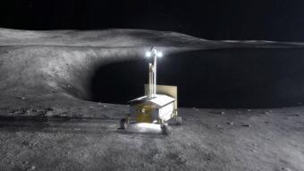 """פרויקט מתוכנן של נאס""""א לחקר משאבים וחילוץ חמצן משטח הירח (RESOLVE). קרדיט: NASA"""