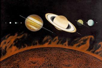 מערכת השמש | אייר: Chesley Bonestell דרך הפליקר של Tom Simpson