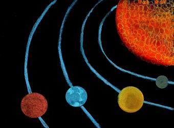 מערכת השמש | ציור מאת Martina Troiani, בת 11