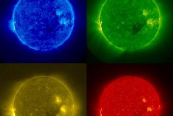 השמש בצבעים | צילום: NASA