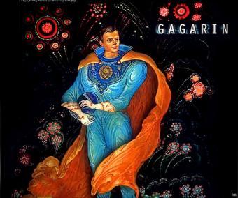 איור יורי גאגרין כגיבור-על | אייר: Boris Kukuliev דרך פליקר James Vaughan