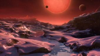 אילוסטרציה אפשרית של אחד מכוכבי הלכת של Trappist-1 | קרדיט: ESO/M. Kornmesser
